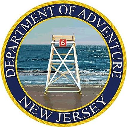 Amazon com: New Jersey Sticker - MD Department of Adventure