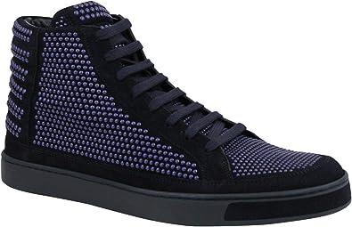 Dark Blue Suede Leather Hi