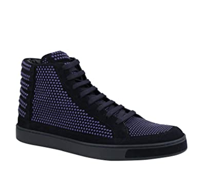89f15a0ad1fb Gucci Studs Lace up Dark Blue Suede Leather Hi Top Sneaker 391687 4018 (9.5  G