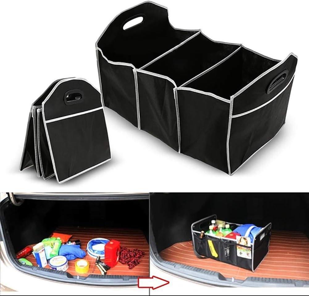 Negro Knowooh Car Trunk Bag Tidy Organizador de Equipaje Plegable Duradero Organizador de Maletero para SUV de cami/ón de Coche e Interior