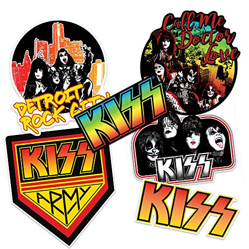 Popfunk KISS Army Collectible Stickers with Detroit Rock City and Doctor Love