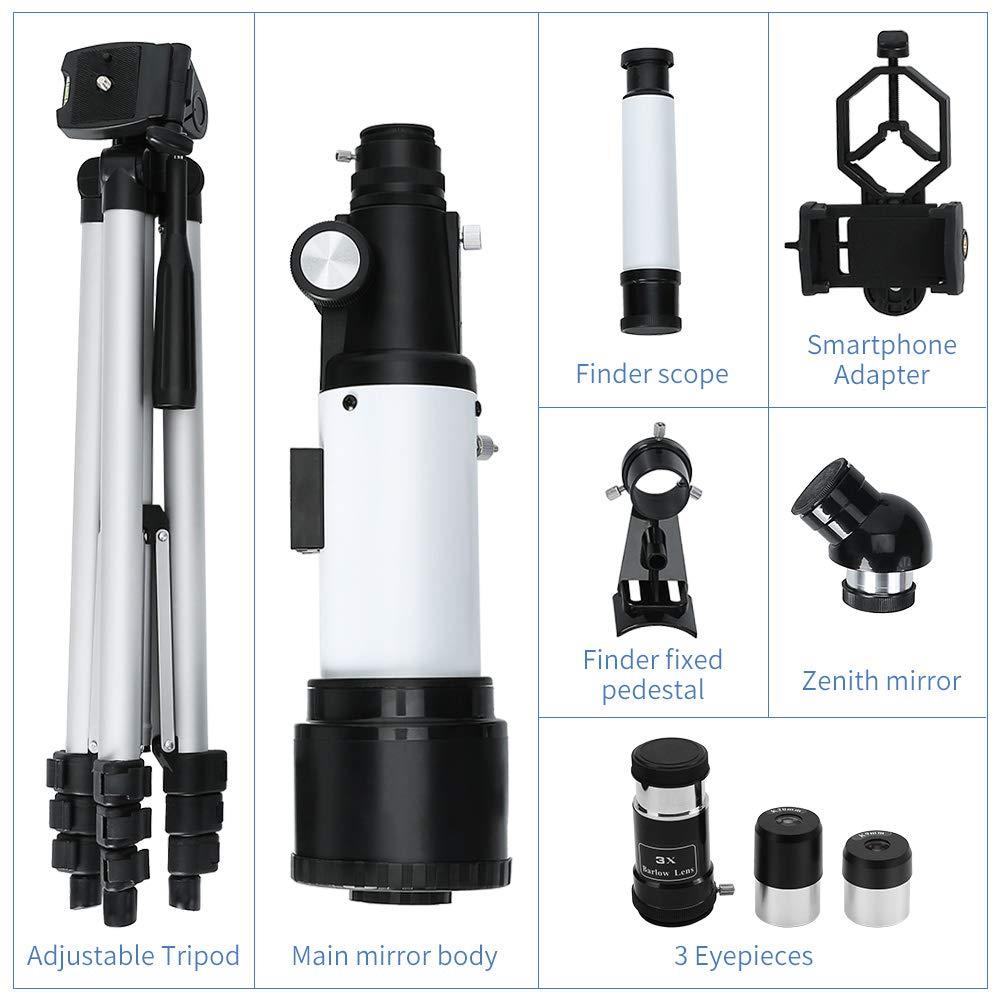 Télescope Astronomique Zoom HD 400/70 mm Plage de Grossissement Elevé avec Trépied, Portable, Équipé d\'un Sac à Dos et d\'un Adaptateur Smartphone pour Adultes, Enfants et Débutants - Ranipobo