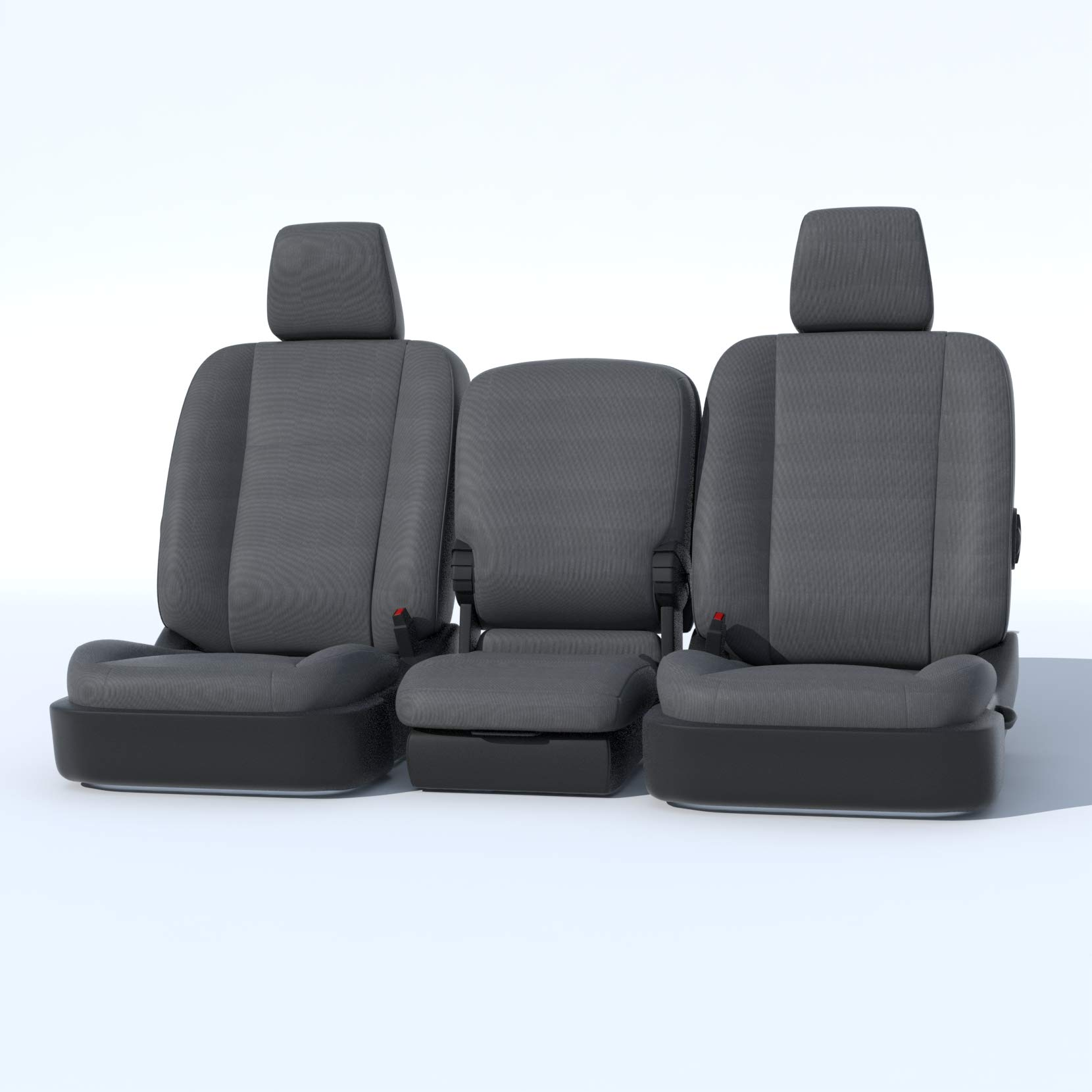 Durafit Seat Covers D1334-C8-FBA, Seat Covers Made in Gray Endura for 2013-2018 Dodge Ram Front 40/20/40 Split Bench with Opening Center Console. 20 Section seat Bottom Does NOT Open.