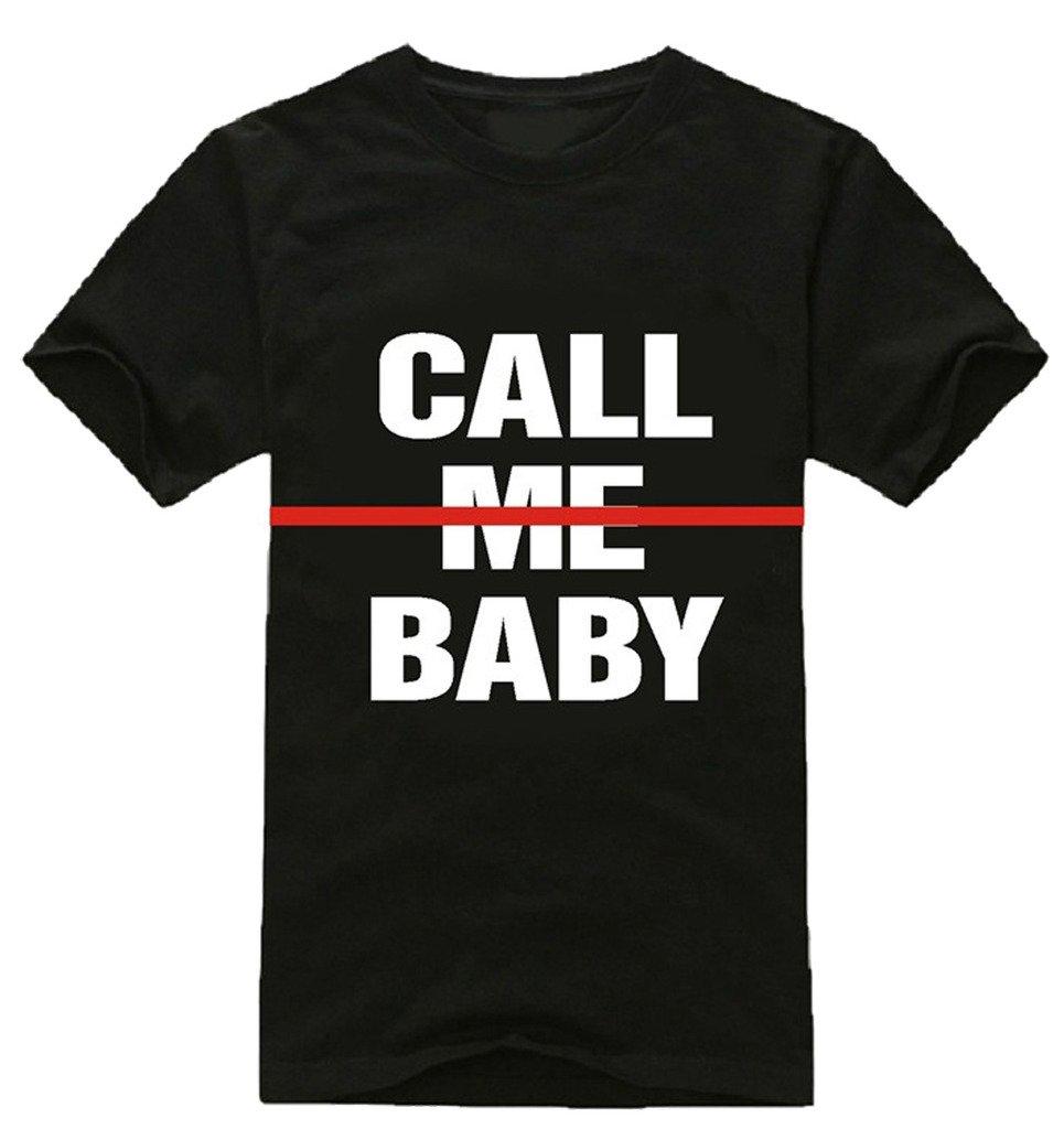 EXO Shirt Call Me Baby Tshirt Sehun Beak Hyun Chan Yeol Same Style T Shirt M Black