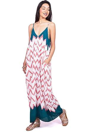 f62c14ff803 LOVE STITCH Women s Flowy Light Linen V-Neck Maxi Dress (M L