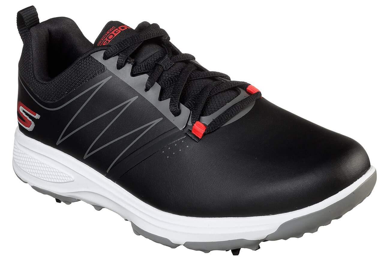 Skechers Men's Torque Waterproof Golf Shoe, Black/red, 10.5 W US by Skechers