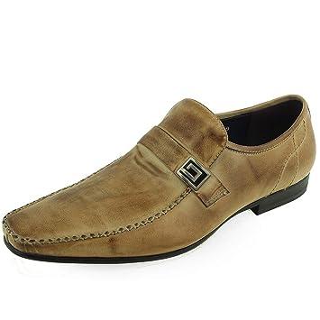 Mocasines de Vestir de Cuero para Hombre Moc Toe Casual Mocasines (Color : Taupe, Size : 44 EU): Amazon.es: Hogar
