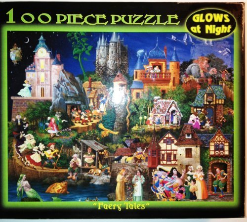 12'' X 9'' 100 Piece Puzzle - Faery Tales Glows At Night