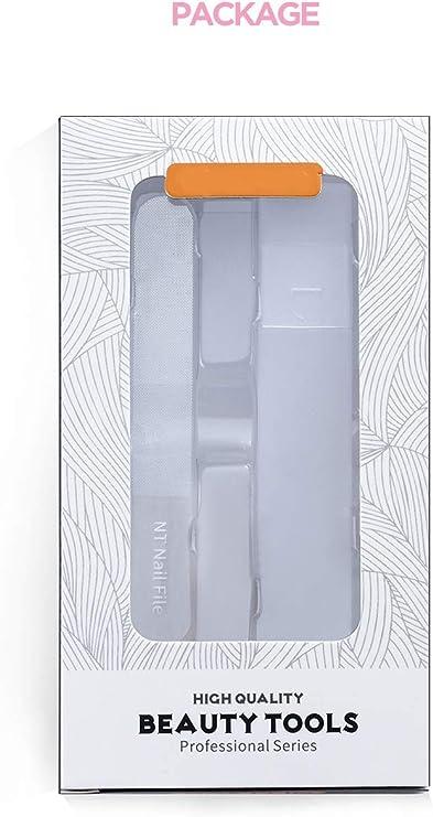 Lima de uñas de cristal Nano brillante pulido con estuche para uñas acrílicas naturales: Amazon.es: Belleza