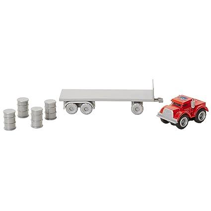 Amazoncom Max Tow Truck 87230 Mini Haulers Red Semi Truck With