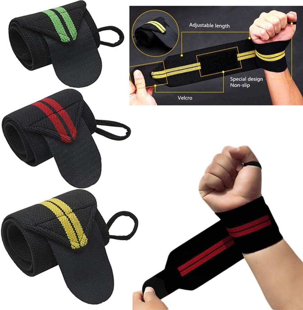 Lergo 1Pc Sport Wrist Weight Lifting Strap Fitness Gym Wrap Bandage Hand Support Wristband