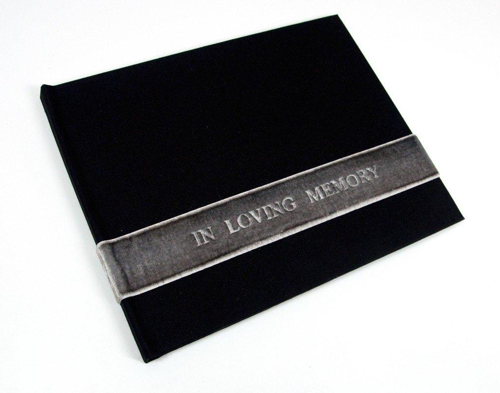 Black Velvet ''In Loving Memory'' Guest Book - Funeral Sign-in - Life Celebration Registry - by Blue Sky Papers