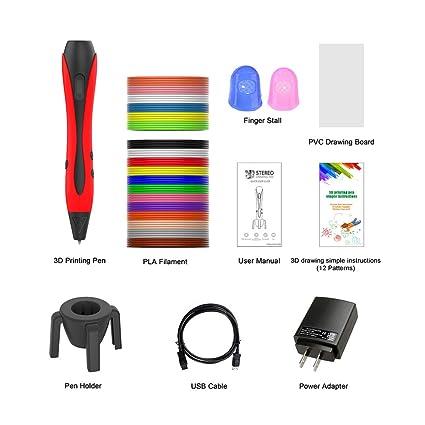 FJY - Bolígrafo de impresión 3D, lápiz de dibujo inteligente para ...