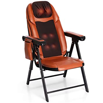 Amazon.com: Silla de masaje plegable Shiatsu con calor ...