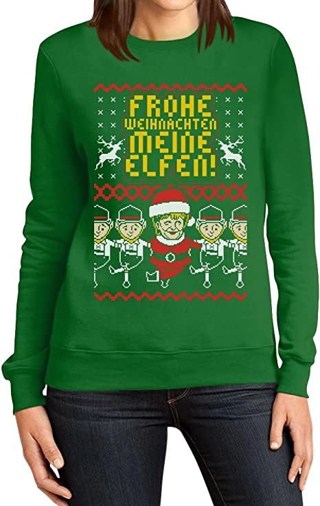Hässlicher Believe Weihnachtsstrickjacke Frauen Blusen Weihnachtspullover TShirt