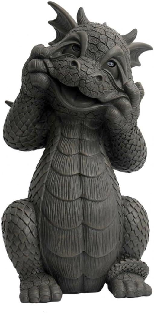 JARDÍN - El dragón hace caras - MystiCalls - GD-296 - Dragon Deco Figurine: Amazon.es: Jardín