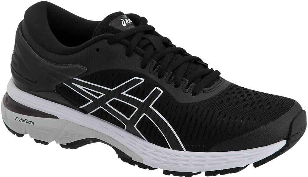 ASICS Gel-Kayano 25 Women's Shoe, Black/Glacier Grey, 5 B US