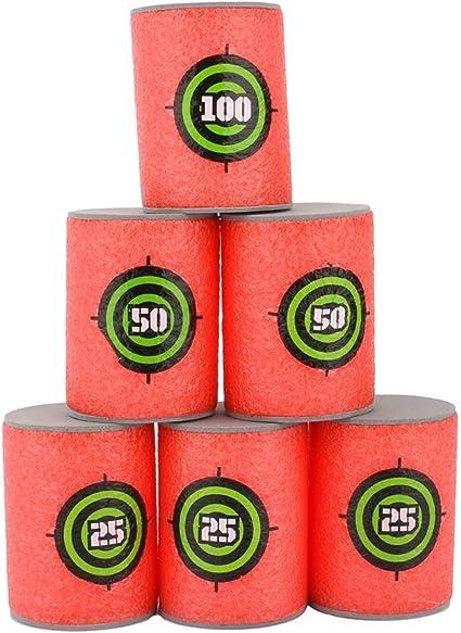 Amazon Com Zjchao Kids Toy Gun Bullet Darts Round Head Blasters For N Strike Blue Red Target Toys Games