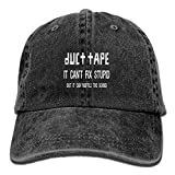 Duct Tape It Can't Fix Stupid But It Can muffle The Sound Adjustable Washed Cap Cowboy Baseball Hat Black