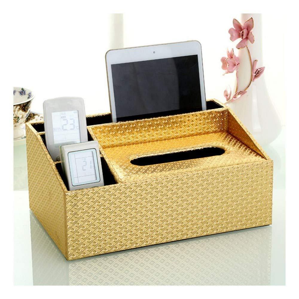 SHUCHANGLE Tissue Box Halter Kosmetiktücher-Box Multifunktionsspeicher Tissue-Box Für Gesicht Fernbedienung-Aufbewahrungsbox Für Wohn-Wohnzimmertisch B07NSSD49T Toilettenpapieraufbewahrung