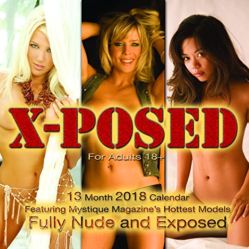Mystique X-Posed Nude 2018 Wall Calendar - Naked Models Playboy Girls Penthouse and Adult Calendar Hot - Naked Hot English