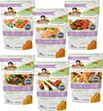 Image of Bambino's Frozen Baby Food, Stages 1, 2 & 3, Organic All Natural Non-GMO, Protein Grain and Vegetables, 10 oz pouches (Pack of 6, Equivalent of 1 Month Supply). Great natural teething soother