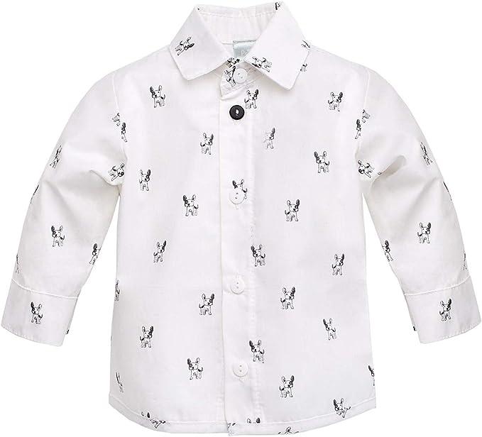 Pinokio - Prince - Camisa de niño - Camisa de bebés - Casual Elegante - Camisa de algodón Blanca Fiesta Manga Larga 80-98 (80 cm, Blanco): Amazon.es: Ropa y accesorios
