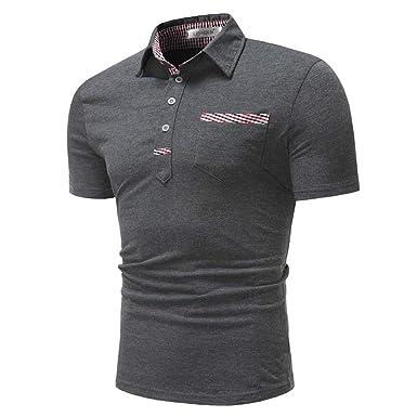 new styles f4efa 2ab2b RMane Herren Polo Shirt Basic Polohemden Kurzarm Slim Fit M - XXL