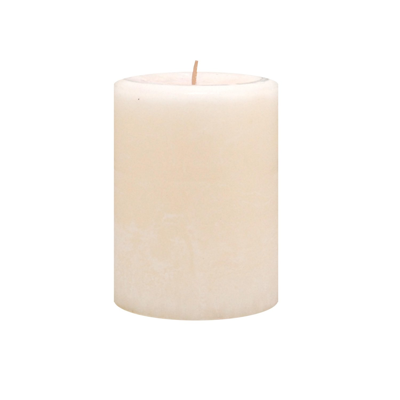 Kiera Grace Enlighten 3 by 4-Inch Pillar Candle, Vanilla Flower Fragrance, Ivory CA03700-8