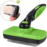 smartelf Pet Grooming Brush-Self Cleaning Slicker Brushes for Dogs and Cats Long & Thick Hair Best Pet Shedding Tool for Grooming Loose Undercoat,Tangled Knots & Matted Fur