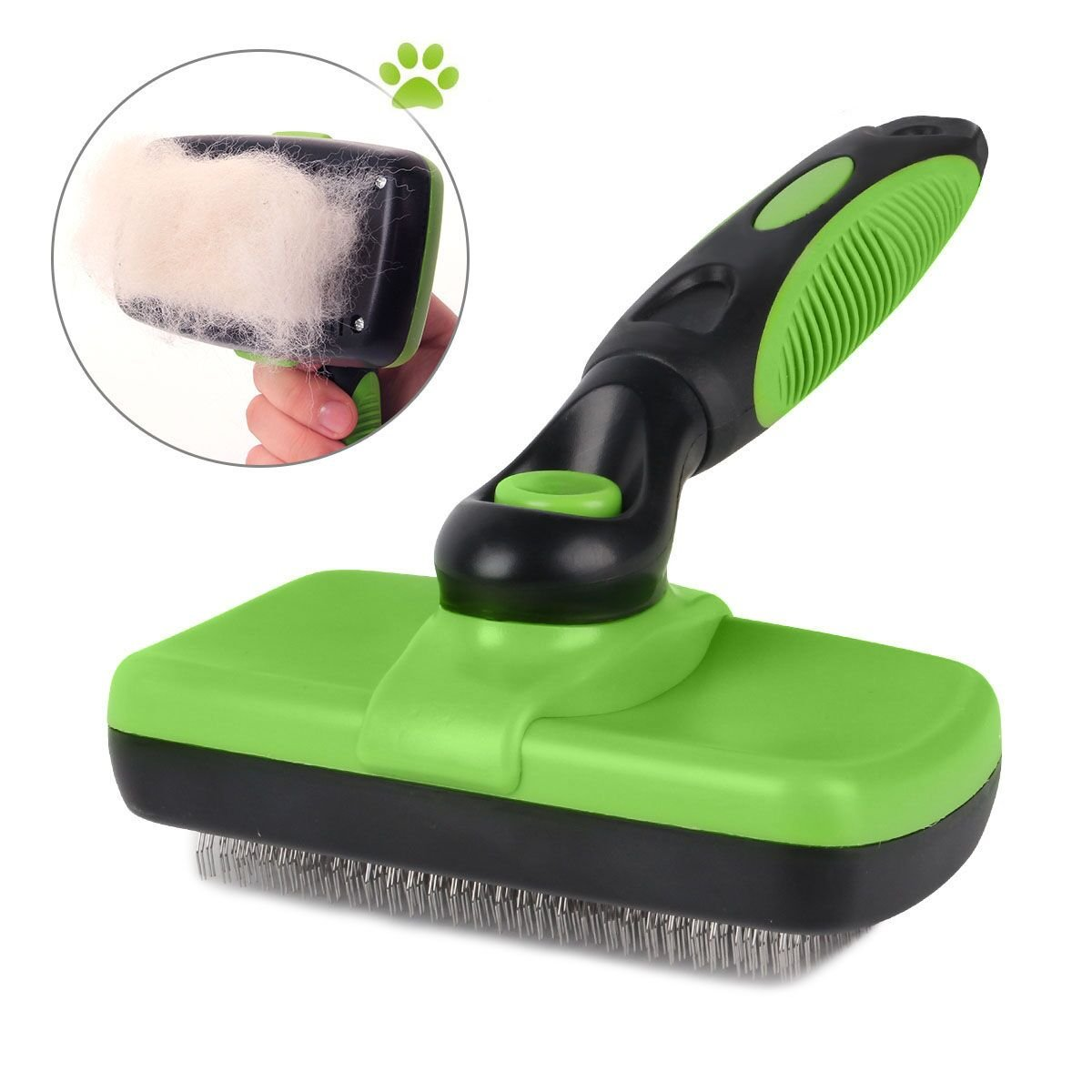 Pet Grooming Brush-Self Cleaning Slicker Brushes for Dogs and Cats Long & Thick Hair Best Pet Shedding Tool for Grooming Loose Undercoat,Tangled Knots & Matted Fur