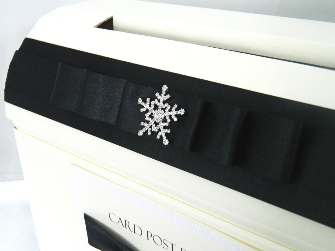 Paper Memories Personalised Diamante Snowflake Wedding Card Post Box
