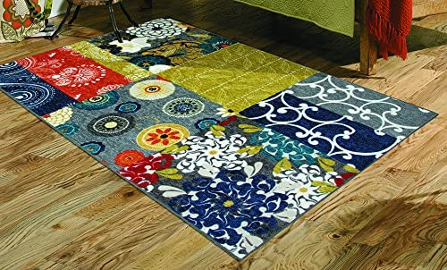 Mohawk Home New Wave Secret Garden Patchwork Printed Area Rug