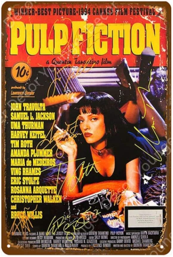 LHCY Vintage Metal Plaque Movie Poster Film Star Shining Elvis Juego De Tronos Pulp Fiction Club Decoración De Pared Carteles De Chapa: Amazon.es: Hogar