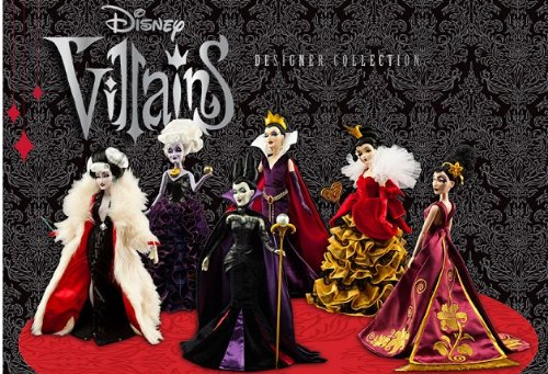 galleon disney villains designer collection doll set of