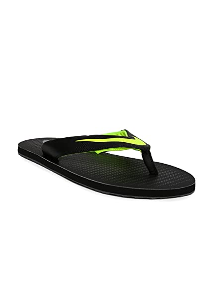 57a0c2e188e714 Nike Men s Chroma Thong 5 Black Volt Flip Flops (833808-013) (Uk-10 ...