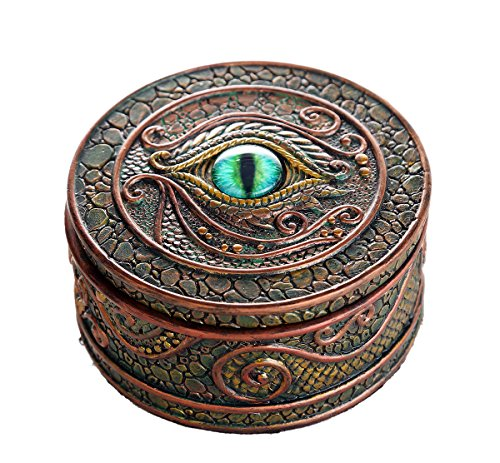 (Pacific Giftware The Eye of The Dragon Mystical Trinket Box Fantasy Dragon Collection 3.75 Dia.)