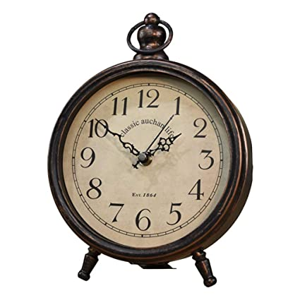 Relojes de mesa para la Sala de Estar Decoración Relojes de Escritorio Antiguos Funciona con Pilas