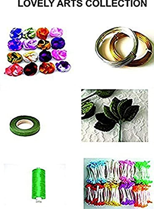 Lovely Arts Collection's Girl's Woolen Yarn Crafts Stocking Flower Making Kit - 6 Items Yarn at amazon