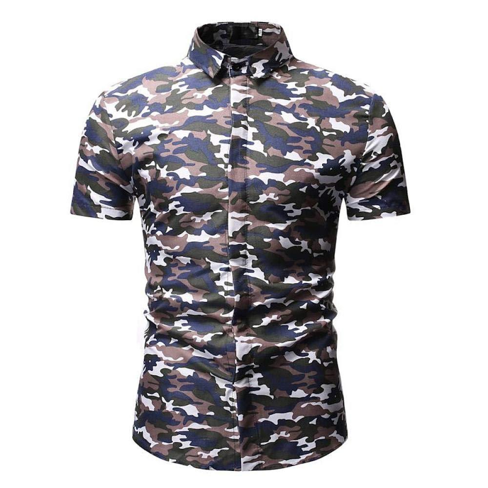 YFLTP Polo para Hombre - Camuflaje/Camuflaje Camisa con Cuello ...
