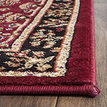 "Safavieh Lyndhurst Collection LNH331B Traditional Oriental Red and Black Runner (23"" x 6)"