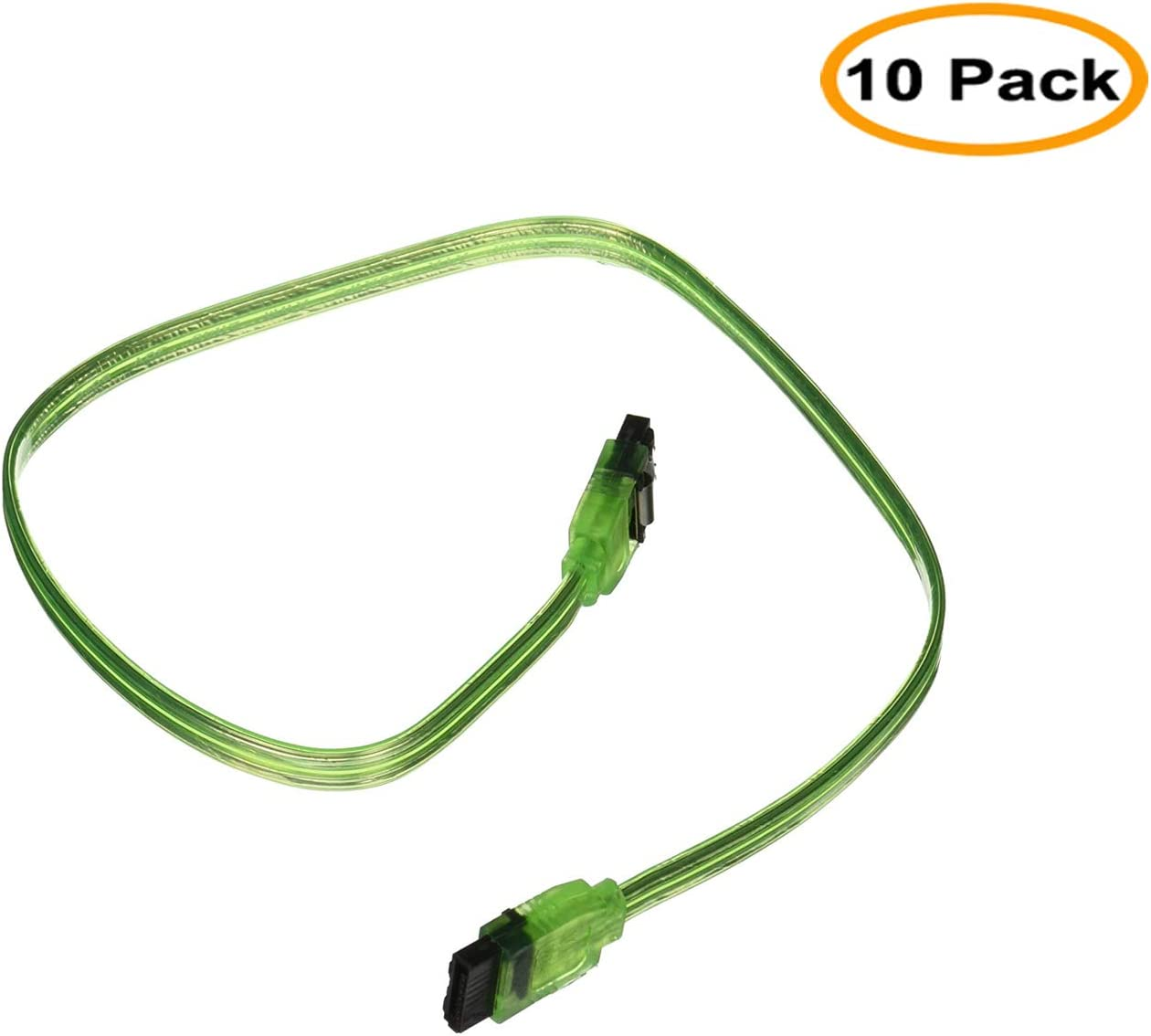 24 SATA 6Gbps Cable with Locking Latch 90 Degree to 180 Degree Black CNE534169 C/&E 2 Pack
