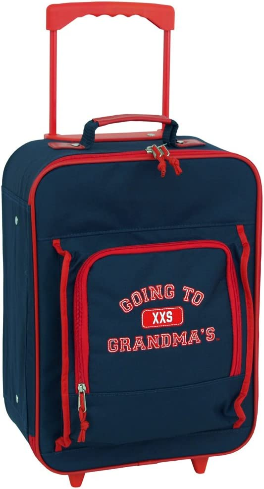 Mercury Going to Grandma s Wheeled Upright Childrens Luggage, Small, Navy Blue