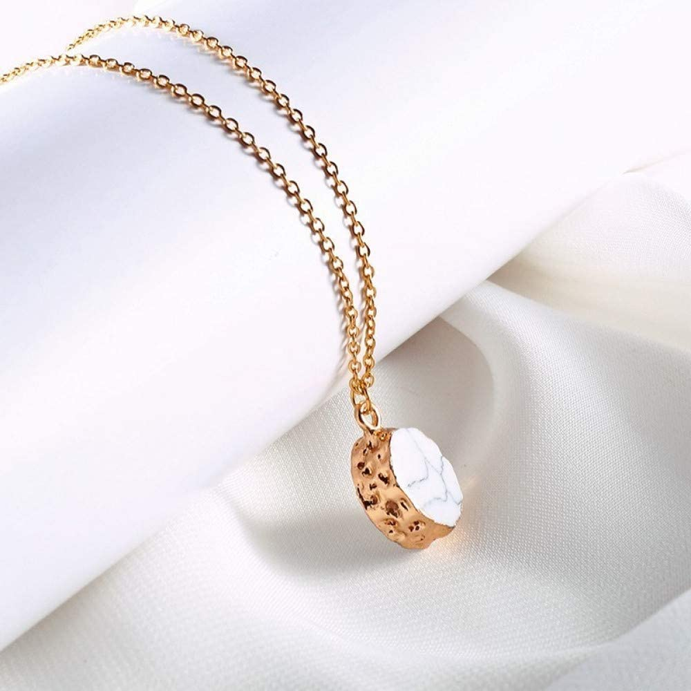 Burenqi Colgante De Piedra De Trullo Minimalista Enlace De Cadena De Oro Colgante De Piedra De Cuarzo De Cristal Oval Colorido Elija Joyas De Mujer