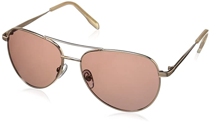 7f74bb1fc588 Amazon.com  Foster Grant Women s Prelude Rose Pol Polarized Aviator ...