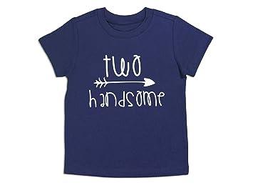 Royal Blue, 3T Second Birthday Shirt Two Handsome Shirt 2nd Birthday Tee