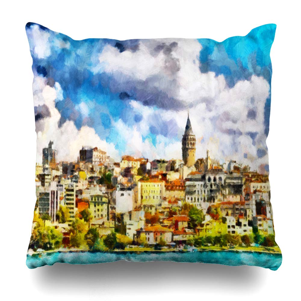 Amazon.com: Ahawoso - Funda de almohada con diseño de nubes ...