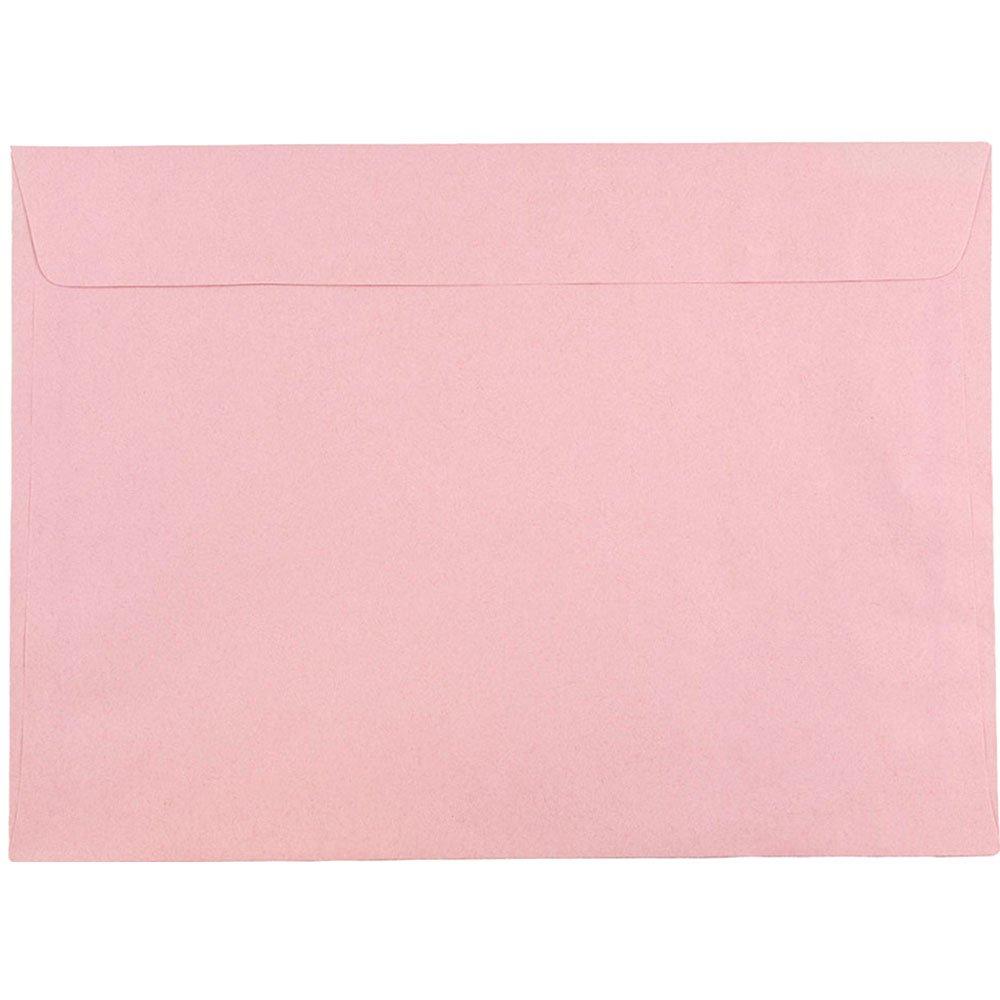 JAM PAPER 9 x 12 Booklet Premium Envelopes - Baby Pink - 25/Pack
