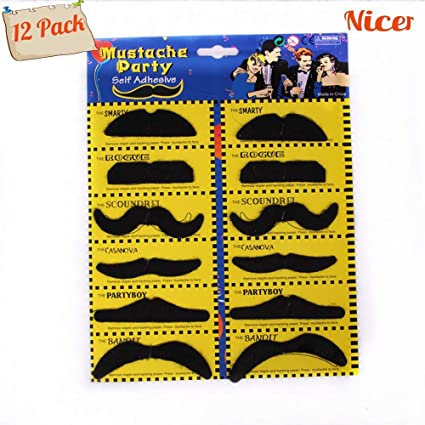 38PCS Costume Facial Hair for Halloween Party MCpinky Self Adhesive Fake Mustaches