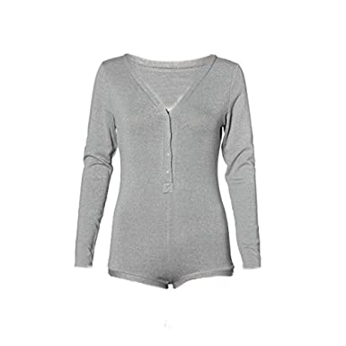 IHRKleid® Playsuit Frauen V Hals lange Ärmel Strampler Overall Top Bluse  Shirt: Amazon.de: Bekleidung